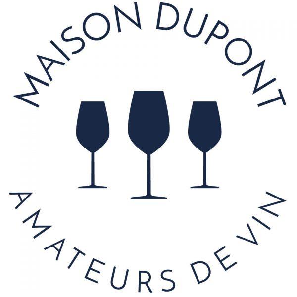 Amateurs de vin coussin Paulin 100% Lin peints à la main made in France