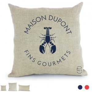 fins gourmets coussin Paulin 100% Lin peints à la main made in France