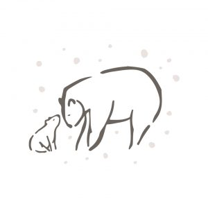 coussin série limitée ours brun sous la neige