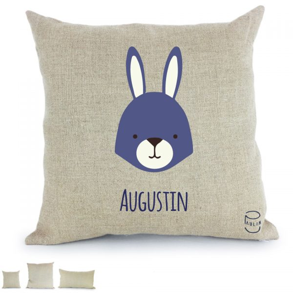 Motif coussin personnalisable lapin