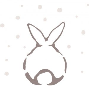 motif lapin seul sous la neige