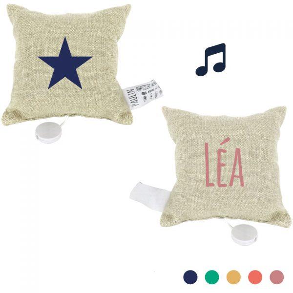 coussin musical personnalisable étoile motif