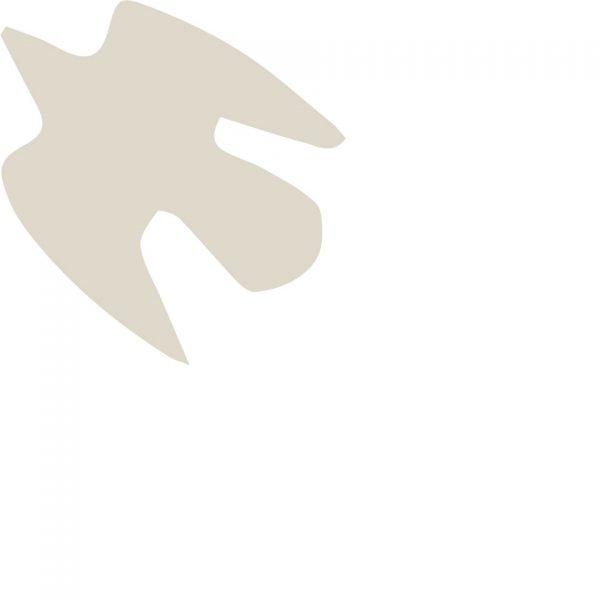 l'envol 2 coussin lin peint à la main made in france