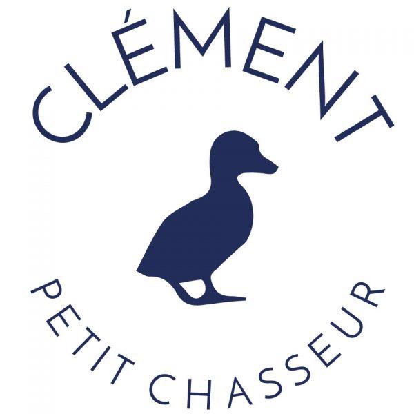 coussin petit chasseur canard 100% lin peint à la main made in France artisanat français