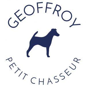 coussin petit chasseur chien 100% lin peint à la main made in France artisanat français