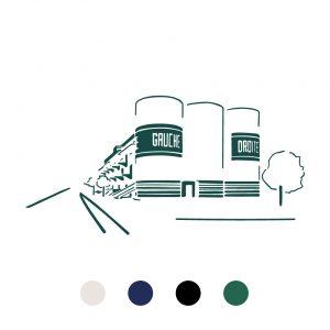 Coussin Paulin peints à la main 100% Lin made in france confection artisanale, la sucrière Lyon