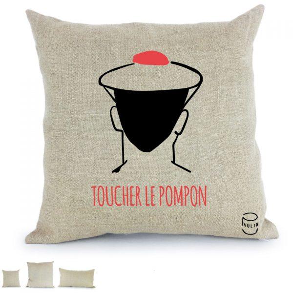Toucher le pompon marin Armada 2019 Rouen coussin Paulin peint à la main made in france
