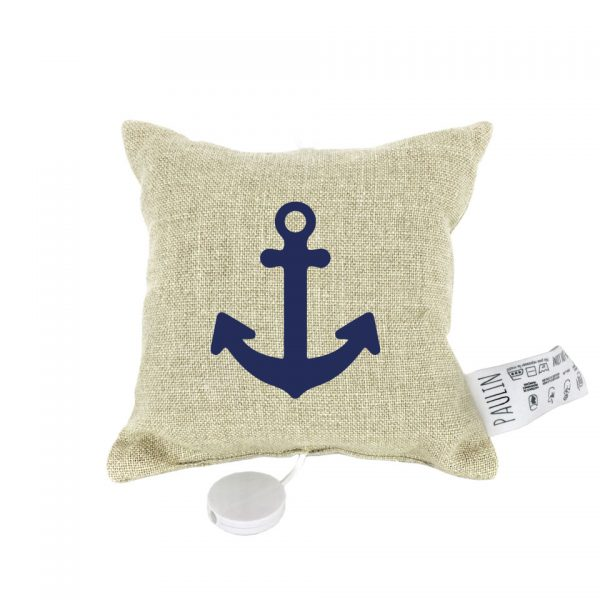 coussin musical personnalisable ancre marin