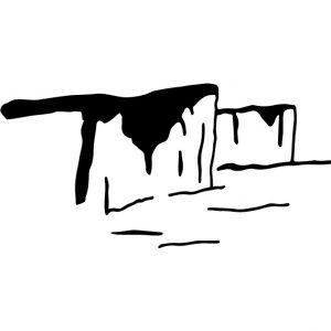 Coussin en lin naturel peints à la main Paulin Lyon Falaises Normandie cote d'albâtre bord de mer