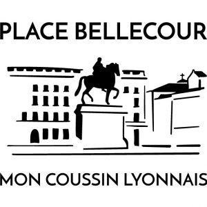 Coussin en lin naturel peints à la main Paulin Lyon Place Bellecour