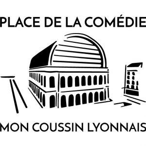 Coussin en lin naturel peints à la main Paulin Lyon place de la comédie Opéra de Lyon