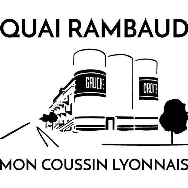 Coussin en lin naturel peints à la main Paulin Lyon Quai Rambaud la sucrière