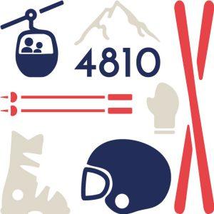 Paulin produits coussin bannière pochette 100% lin peint à la main made in france Lyon mon équipement de ski